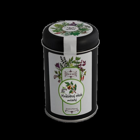 Muškátový ořech mletý BIO dóza 70 g Les Fruits du Paradis