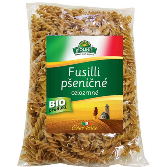 Fusilli pšeničné celozrnné BIO 500 g BIOLINIE