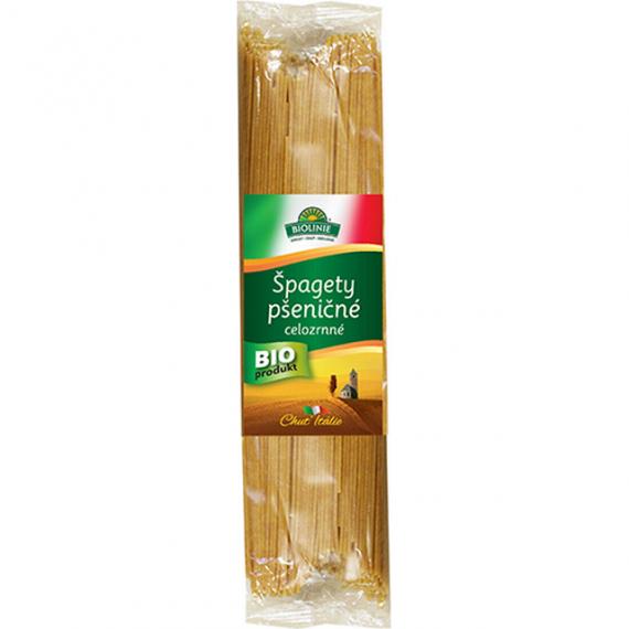 Špagety pšeničné celozrnné BIO 500 g BIOLINIE