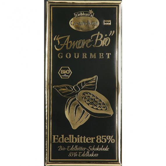 Čokoláda hořká 85% kakao BIO 100 g LIEBHART´S