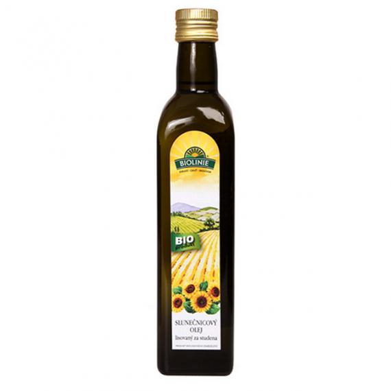 Slunečnicový olej lisovaný za studena BIO 500 ml BIOLINIE