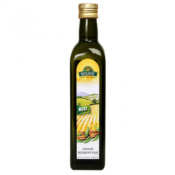 Sezamový olej lisovaný za studena BIO 500 ml BIOLINIE