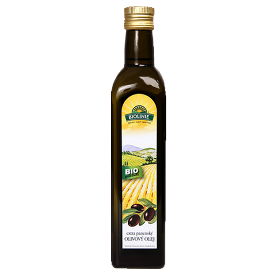 Olivový olej lisovaný za studena BIO 500 ml BIOLINIE