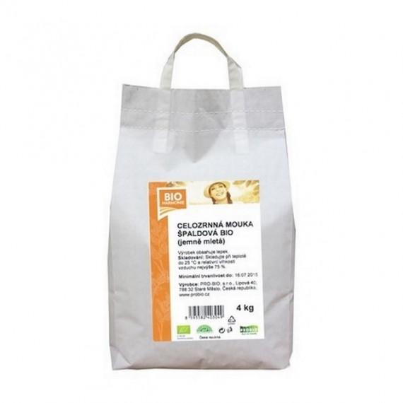 Špaldová mouka celozrnná jemně mletá BIO 4 kg BIOHARMONIE