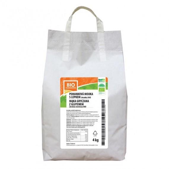 Pohanková mouka hladká S LEPKEM BIO 4 kg BIOHARMONIE