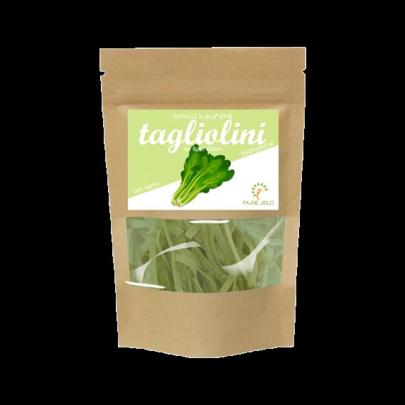 Kukuřičné nudle tagliolini se špenátem 200 g FAJNE JIDLO