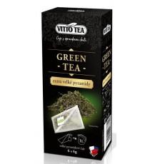 Zelený čaj Green tea (extra pyramidové sáčky) 6 x 6 g Vitto Tea