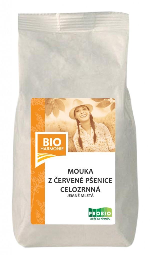 Mouka z červené pšenice celozrnná jemně mletá BIO 25 kg BIOHARMONIE