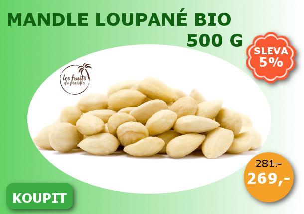 Mandle blanšírované BIO 500 g Les Fruits du Paradis