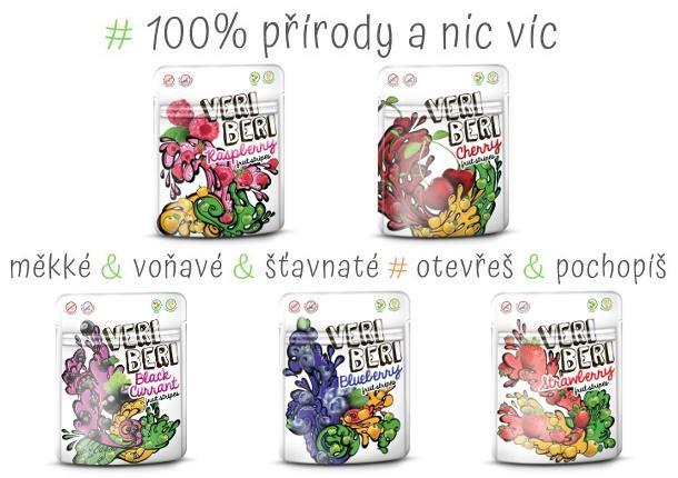 100% ovocné stripsy Veri Beri